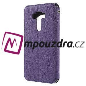 Diary pouzdro s okýnkem na mobil Asus Zenfone 3 ZE520KL - fialové - 2