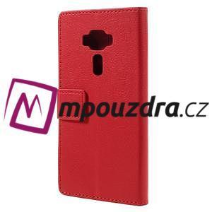 Leathy peněženkové pouzdro na Asus Zenfone 3 ZE520KL - červené - 2