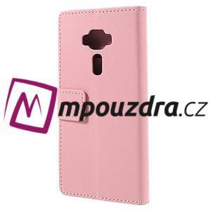 Leathy peněženkové pouzdro na Asus Zenfone 3 ZE520KL - růžové - 2