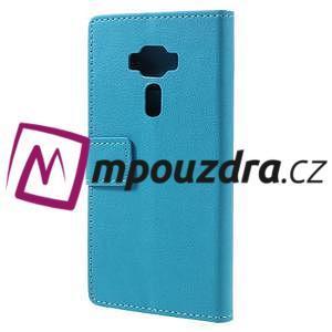 Leathy peněženkové pouzdro na Asus Zenfone 3 ZE520KL - světlemodré - 2