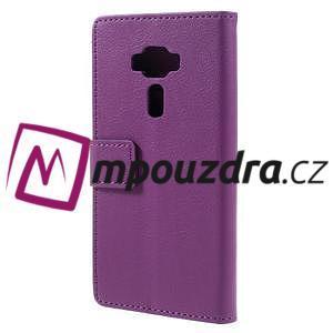 Leathy peněženkové pouzdro na Asus Zenfone 3 ZE520KL - fialové - 2