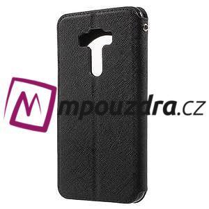 Diary pouzdro s okýnkem na mobil Asus Zenfone 3 ZE520KL - černé - 2