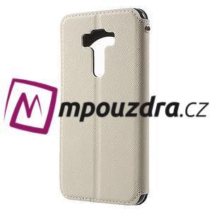 Diary pouzdro s okýnkem na mobil Asus Zenfone 3 ZE520KL - bílé - 2