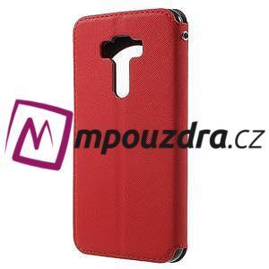 Diary pouzdro s okýnkem na mobil Asus Zenfone 3 ZE520KL - červené - 2