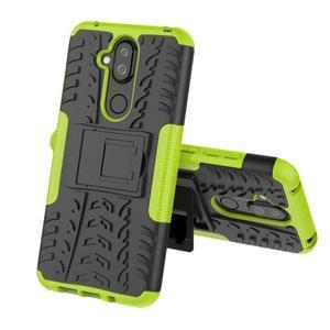 Kick odolný hybridní obal na Nokia 8.1 - zelený - 2