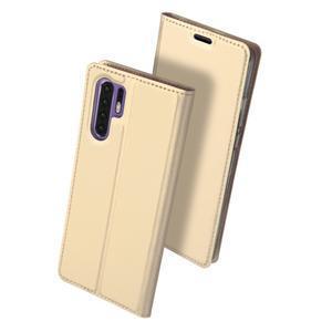 DUX PU kožené pouzdro na mobil Huawei P30 Pro - zlaté - 2