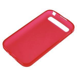 Matný gelový obal na BlackBerry Classic - červený - 2