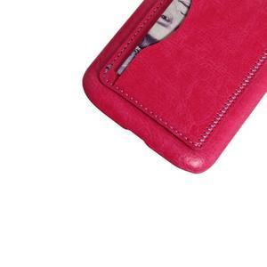 PU kožený kryt se stojánkem na BlackBerry Classic - rose - 2