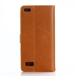 PU kožené peněženkové pouzdro na BlackBerry Leap - hnědé - 2