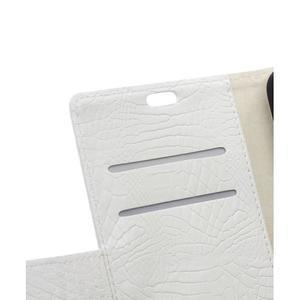 Croco style peněženkové pouzdro na BlackBerry Leap - bílé - 2