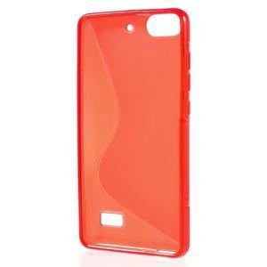 S-line gelový obal na mobil Honor 4C - červený - 2