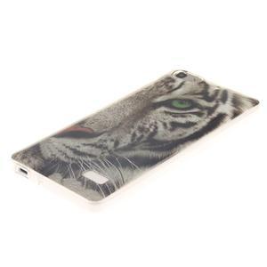 Gelový obal na mobil Honor 4C - bílý tygr - 2
