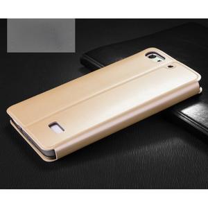 Vintage stylové pouzdro na mobil Honor 4C - zlaté - 2