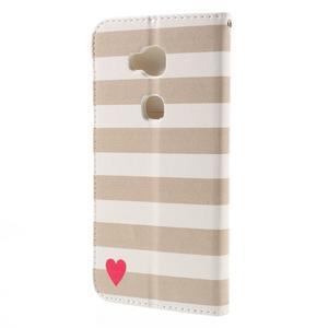 PU kožené pouzdro na mobil Honor 5X - srdce - 2