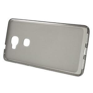 Matný gelový obal na mobil Honor 5X - šedý - 2