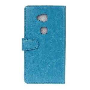 Horse peněženkové koženkové pouzdro na Huawei Honor 5X - modré - 2