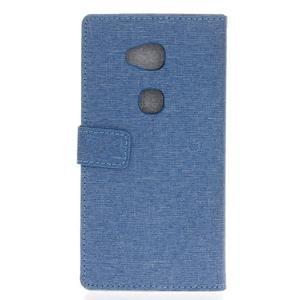 Textilní/koženkové pouzdro na Honor 5X - světlemodré - 2