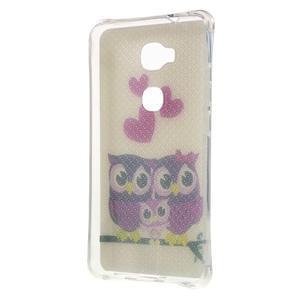 Drop gelový obal na Huawei Honor 5X - soví rodinka - 2