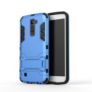 Odolný kryt na mobil LG K10 - světlemodrý - 2