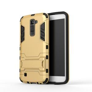 Odolný kryt na mobil LG K10 - zlatý - 2