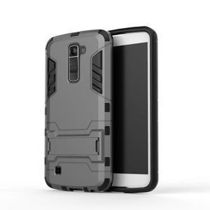 Odolný kryt na mobil LG K10 - šedý - 2