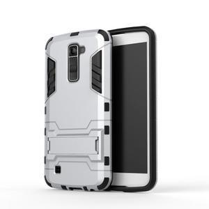Odolný kryt na mobil LG K10 - stříbrný - 2