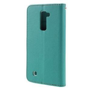 Style PU kožené pouzdro pro LG K10 - zelenomodré - 2