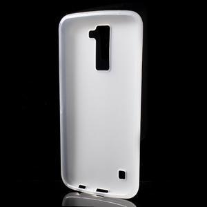 Matný gelový kryt na LG K10 - transparentní - 2