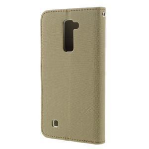 Style PU kožené pouzdro pro LG K10 - khaki - 2
