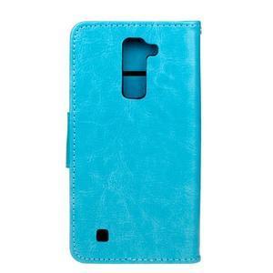 Horse PU kožené pouzdro na LG K10 - modré - 2
