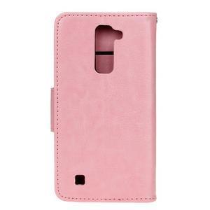 Horse PU kožené pouzdro na LG K10 - růžové - 2