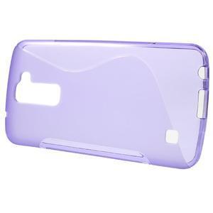 S-line gelový obal na mobil LG K10 - fialový - 2