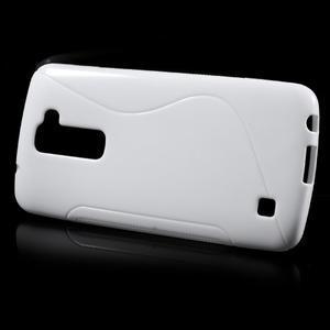 S-line gelový obal na mobil LG K10 - bílý - 2