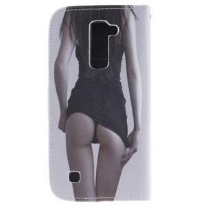 Peněženkové pouzdro na mobil LG K10 - sexy dívka - 2