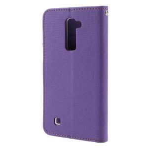 Style PU kožené pouzdro pro LG K10 - fialové - 2