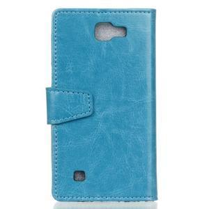 Leat peněženkové pouzdro na LG K4 - modré - 2