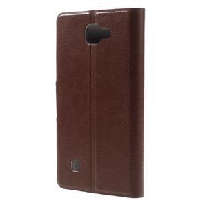 Horse PU kožené pouzdro na mobil LG K4 - hnědé - 2