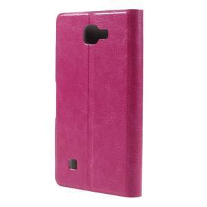 Horse PU kožené pouzdro na mobil LG K4 - rose - 2