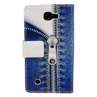 Style peněženkové pouzdro na LG K4 - jeans - 2/5
