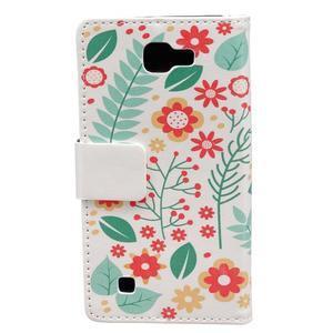 Style peněženkové pouzdro na LG K4 - květinová koláž - 2