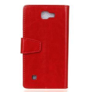 Leat peněženkové pouzdro na LG K4 - červené - 2