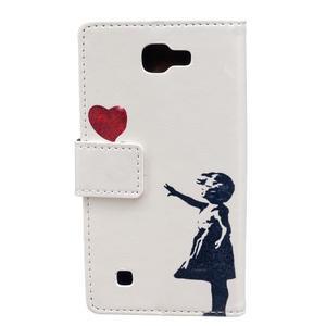 Style peněženkové pouzdro na LG K4 - letící srdce - 2