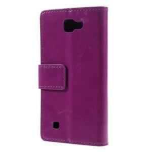 Fialové peněženkové pouzdro na LG K4 - 2