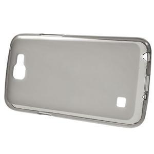 Matný gelový obal na mobil LG K4 - šedé - 2