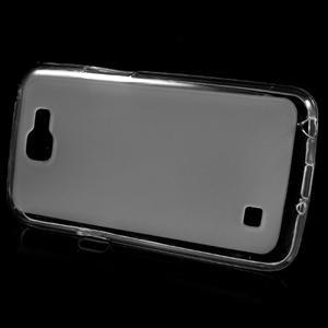 Matný gelový obal na mobil LG K4 - bílé - 2