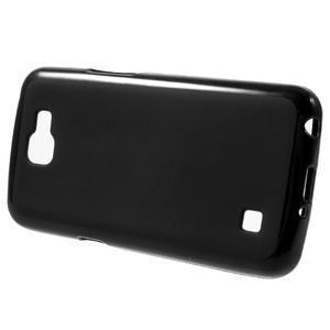 Matný gelový obal na mobil LG K4 - černé - 2