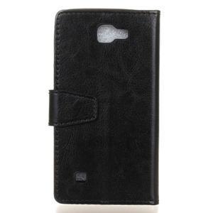 Leat peněženkové pouzdro na LG K4 - černé - 2