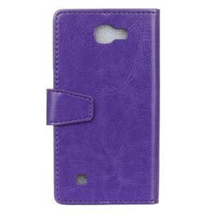 Leat peněženkové pouzdro na LG K4 - fialové - 2