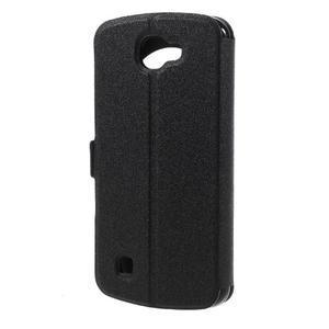 Trend pouzdro s okýnkem na mobil LG K4 - černé - 2