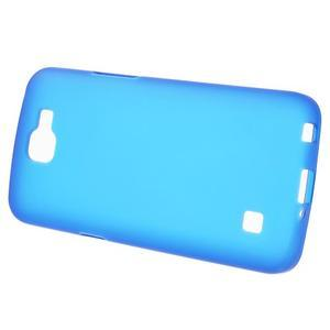 Antfing matný gelový kryt na LG K4 - modrý - 2